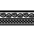 classic ancient roman border vector image