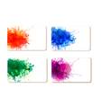 collection colorful abstract watercolor banners vector image