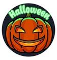 Color vintage halloween emblem vector image vector image