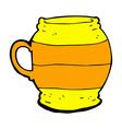 comic cartoon big mug vector image vector image