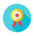 Competition award flat circle icon vector image
