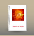cover of diary or notebook with ring spiral vector image vector image