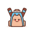 cute backpack cartoon comic character with smiling vector image vector image