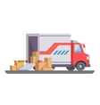 Delivery truck with box