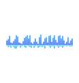 design of music wave blue spectrum-bars vector image vector image
