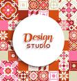 Design studio background mosaic tile decoration vector image vector image