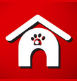 dog house icon vector image vector image