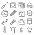 electricity outline icons set vector image vector image