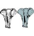elephant coloring icon symbol vector image