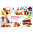 flat sweet products infographic template vector image vector image