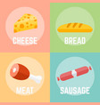 food flat design vector image