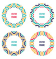 four abstract round frames