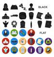 funeral ceremony flat icons in set collection for vector image vector image