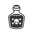 glass poison bottle icon on white background vector image vector image