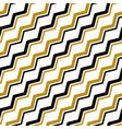 gold black zigzag line seamless pattern vector image vector image