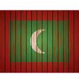 grunge maldives flag Eps10 vector image vector image