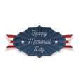 Happy Memorial Day festive Label with Text vector image vector image
