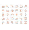 household devices and appliance icons vector image