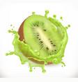 kiwi fruit juice fresh fruit 3d icon vector image vector image