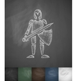 knight icon Hand drawn vector image vector image