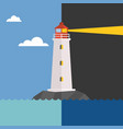 lighthouse in day and night vector image vector image