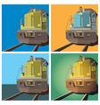 locomotive vector image vector image