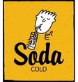 man drinking soda vector image