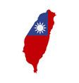 map taiwan - flag vector image vector image