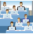 Men and women working in a call center Office vector image vector image