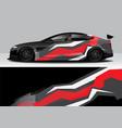 modern sporty abstract car wrap auto sticker vector image vector image