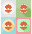 objects for recreation a beach flat icons 14 vector image