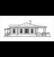 old building black and white vector image vector image