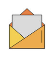 open message envelope with blank paper icon image vector image vector image