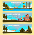 outdoor adventure banners web templates vector image