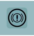 Pale blue alert sign vector image vector image