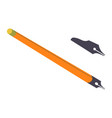 pen knife sharp instrument for cutting vector image