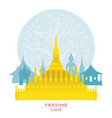 phra that luang vientiane laos with decoration vector image vector image
