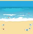 plastic bottle pollution of ocean sea or beach vector image