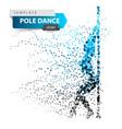 pole dance exotic striptease - dot vector image vector image