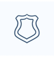 Police badge sketch icon vector image vector image