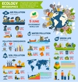 Pollution And Ecology Infographics vector image