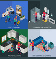 professional cleaning isometric design concept vector image