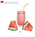 Red Watermelon Otai or Tongan Watermelon Drink vector image