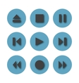 Round icons control buttons vector image
