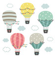 set isolated hot air balloons part 1 vector image vector image