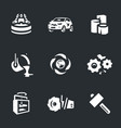 set of scrap processing icons vector image vector image