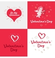 Set of the Valentines day cards vector image vector image