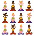 Set women yoga vector image vector image