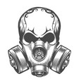 skull in a gas mask vector image vector image