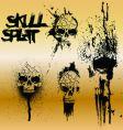 Skull splat vector image